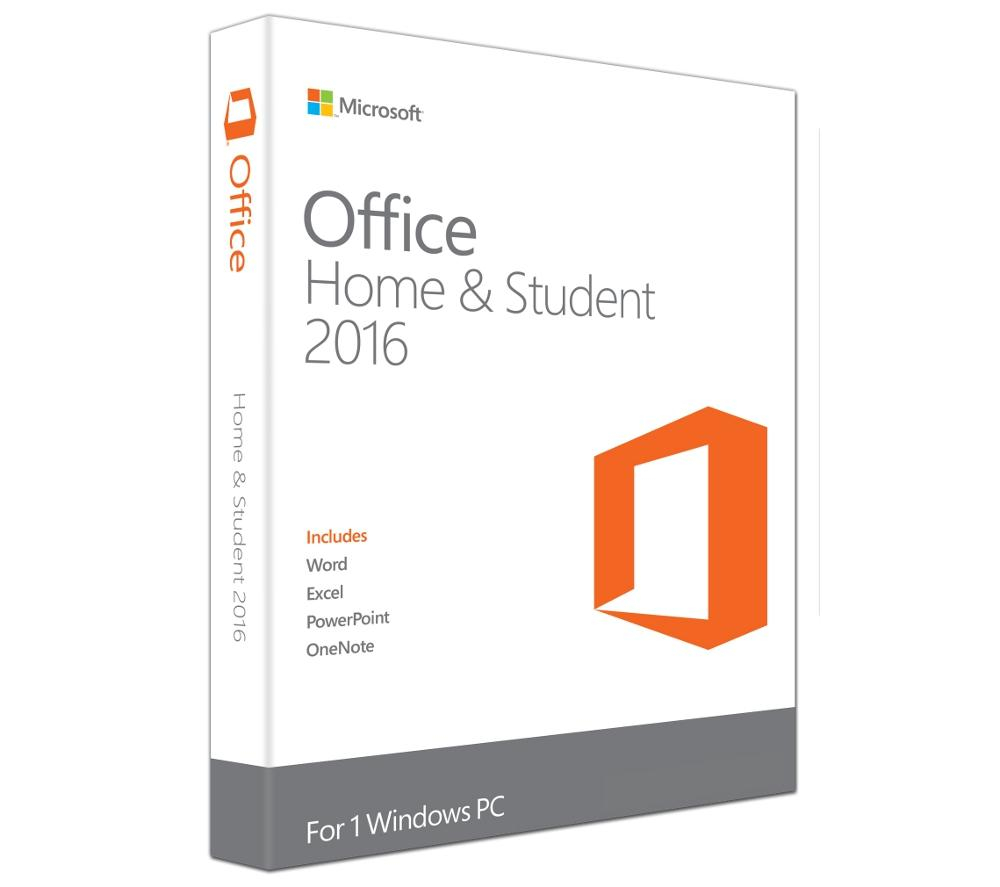Office Home & Student 2016<br>Word Excel PowerPoint<br>OneNote without Outlook<br>One-time Purchase<br>1 User