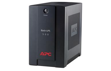 APC Back-UPS 500VA<br>Estimated Runtimes:<br>1 minute @ 300 Watts<br>8 minutes @ 150 Watts<br>Two Year Warranty