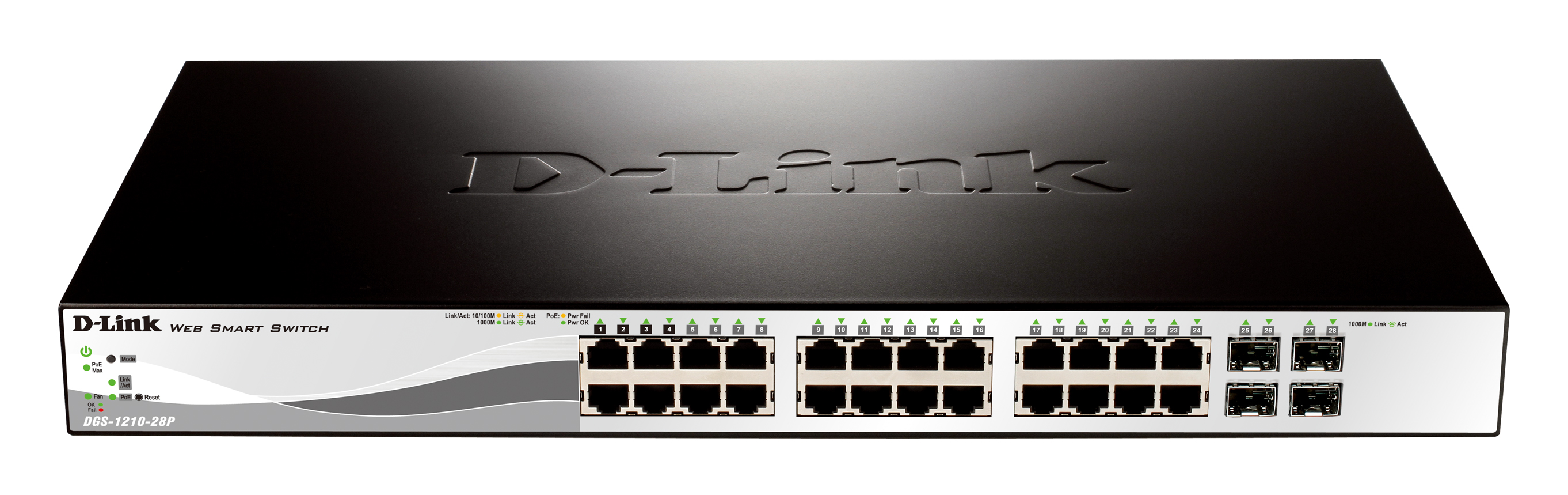 24-Port Gigabit<br>PoE WebSmart Switch
