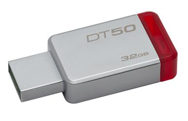 DataTraveler 50<br>32GB USB 3.1 Flash Drive<br>Five Year Warranty