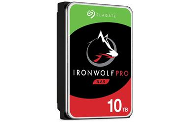"IronWolf Pro NAS HDD<br>10TB 7200RPM 256MB<br>SATA 3.5"" Disc Drive<br>Five Year Warranty"