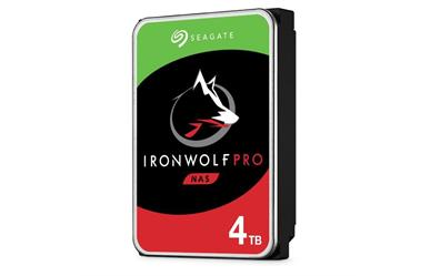 "IronWolf Pro NAS HDD<br>4TB 7200RPM 128MB<br>SATA 3.5"" Disc Drive<br>Five Year Warranty"
