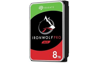 "IronWolf Pro NAS HDD<br>8TB 7200RPM 256MB<br>SATA 3.5"" Disc Drive<br>Five Year Warranty"